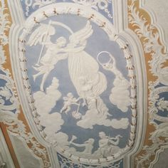 The Angel Ceiling. #theangelceiling #ornamentalceiling #baroque #neoclassical #bairroalto #principereal #lisbon #lisbonpersonalizedtours #lisbonwithpats
