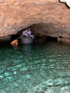The underwater caves at Tapolca, near Balaton, Hungary.  Great day trip!