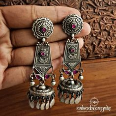 Visit the post for more. Stylish Jewelry, Cute Jewelry, Jewelry Art, Fashion Jewelry, Indian Jewelry Earrings, India Jewelry, Silver Jewelry, Antique Jewelry, Antique Silver