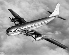 A Boeing Stratocruiser in flight above the clouds, circa 1947.