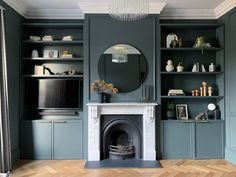 Alcove Ideas Living Room, Living Room Storage, New Living Room, Living Room Designs, Living Room Decor, Dining Room Colour Schemes, Dining Room Colors, Victorian Living Room, Edwardian House