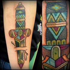 #daggertattoo #colortattoo #swordtattoo #tattoo #tattoos #traditionaltattoo