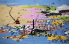 Massive Lego map of the world at South Bank London