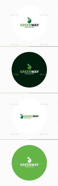 Green Way Logo,animal, bar, business, chat, connect, corporate, delivery, design, drug, eco, ecology, food, fruit, garden, green, health, host, identity, internet, leaf, logo, medicine, people, planet, sport, tree, vegetable, vitamin, way, web