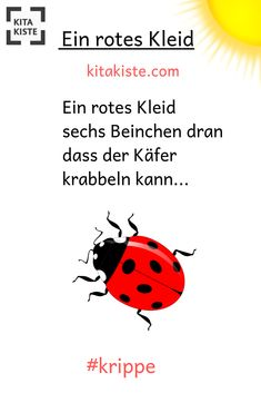 """Ladybug poem for the - from """"Reime & Gedichte by Kitakiste - Ladybug poem for the - from """"Rei. Ladybug, Musicals, Poems, Thoughts, Sayings, Kids, Bunt, Log Projects, Preschool"""