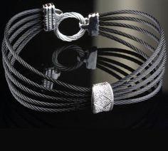 Pre-Owned Charriol Contemporary Diamond Bangle Bracelet