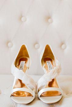 Feather Bridal Shoes // Photography ~ Sharmila Photography