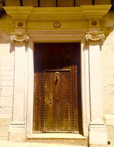 Impressive door to Spanish mansion in Mahon on Menorca.