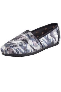 Toms Shoes Sequined Camo Slip-Ons, $95; bergdorfgoodman.com