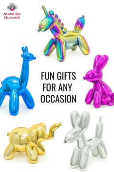 Made By Humans: Balloon Money Banks Ballon Animals, Money Pictures, Jeff Koons, Money Bank, Balloon Dog, Vinyl Toys, Cool Items, Animal Drawings, Cool Gifts