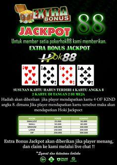 Big Promo Terbaru Pokerhok88 : Extra Bonus Jackpot 88