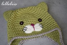 crochet cat hat - there doesn't seem to be a pattern, but should be easy enough. Use for inspiration only.