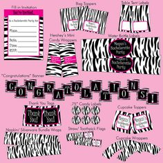 Printable Zebra Party Package