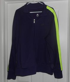 Men's Purple & Lime Green NIKE SPORTSWEAR Athletic Style Jacket, Size XXL, GUC! #NIKESPORTSWEAR #ZipperAthleticStyleJacketCoat