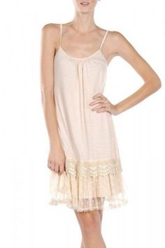 RYU Cream Tulle Ruffle Slip Dress
