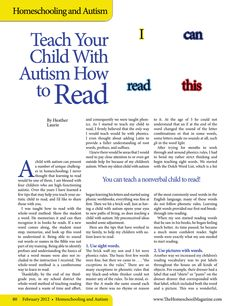 tips for teaching your child with autism how to read