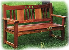 Sandhill Designs Arts and Crafts Furniture.chairs.html  I love this bench Bill gave me for my 40th