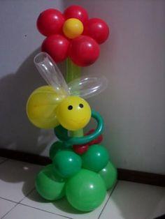 Decoração de chão com balões