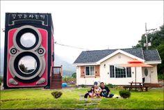 The Most Adorbs Two-Story Camera Cafe Ever!  Dreamy Camera Cafe! #coffee #espresso #cafe #cute #creative #dream #cameras #photography #unique #foodie