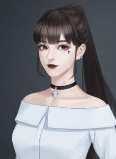 Pretty Anime Girl, Beautiful Anime Girl, Anime Art Girl, Manga Girl, Lovely Girl Image, Digital Art Girl, Girl Sketch, Korean Art, Cute Cartoon Wallpapers