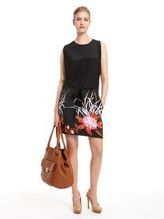 Sleeveless Blouson Dress With Self Belt - DKNY