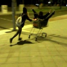 grocery store  @ Untitled #grocery cart  #friend -  #girl