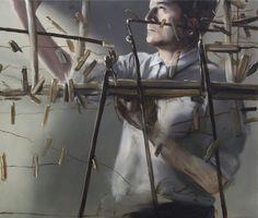 Michael Borremans, desperado by marioegallarado Painting People, Figure Painting, Michael Borremans, Wilhelm Sasnal, Luc Tuymans, Art Of Love, Contemporary Paintings, Cool Artwork, Painting Techniques