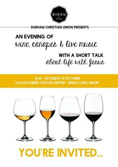 A3 Poster Wine & Canapes DICCU Event