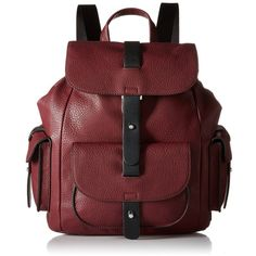 Kenneth Cole Reaction Streamers Fashion Backpack ($54) ❤ liked on Polyvore featuring bags, backpacks, accessories, purses, red bag, structured bag, backpack bag, kenneth cole reaction backpack and knapsack bags