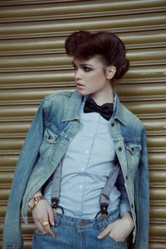 This look was inspired by the 1950's. In the 1950's hairstyles resembled a pin-up doll look. Cymone M. 2/19/2015
