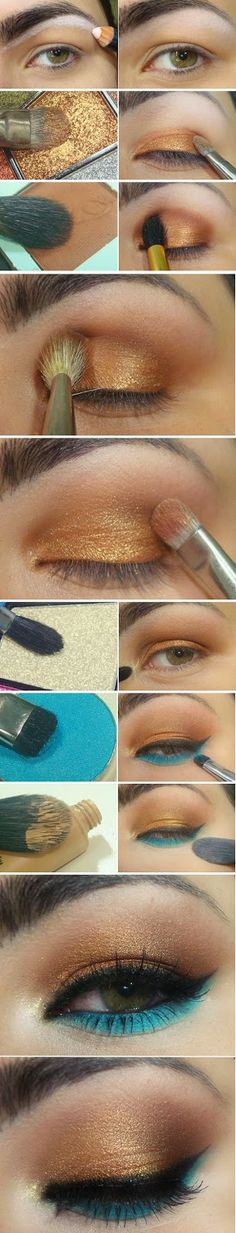 Wonderful Inspired Gold and Turquoise Makeup Tutorials / Best LoLus Makeup Fashion