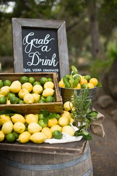 "Love this font for the refreshment table! ""Grab a drink"""
