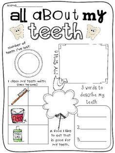 dental hygiene worksheet - Szukaj w Google