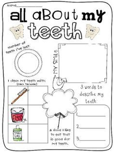 dental hygiene worksheet - Szukaj w Google