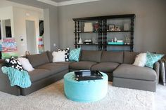 50 Turquoise Room Decorations Ideas and Inspirations | Gray wall ...