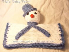 Ravelry: Snowman Snuggle Security Blanket #Crochet pattern by Melissa Graham