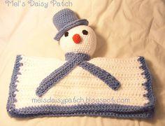 Ravelry: Snowman Snuggle Security Blanket #Crochet pattern by Melissa Graham