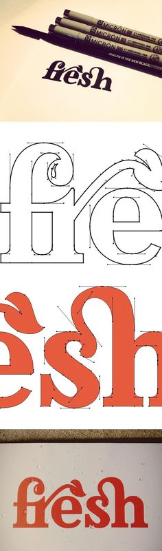 custom typography... Ah how I love Adobe Illustrator, one of my oldest friends.