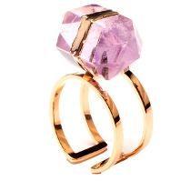 f22457a41181 Anillo Con Piedra Semipreciosa Caramelo En Chapa De Oro