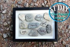"DIY ""Our Family Rocks"" Frame"
