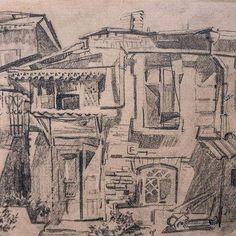#art #old yard #openair #pencil, #paper #drawing #illustration