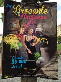25ème brocante de la Krutenau. Le 25 mai 2013 à Strasbourg / Bas-Rhin
