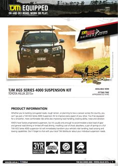 #productinfo #hilux #suspension Toyota Hilux, Caravan, Offroad, How To Plan, Cars, Truck Camper, Off Road, Autos, Vehicles