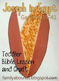 Family Abounds: Toddler Bible Lesson - Joseph in Egypt