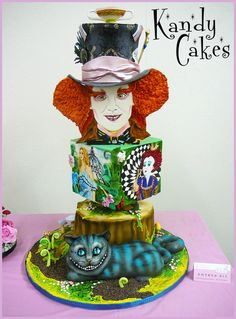 Tim Burtons~ Alice in Wonderland Cake - This was my first cake contest entry!! I won 3rd prize from the judges and 1st prize for peoples choice!!