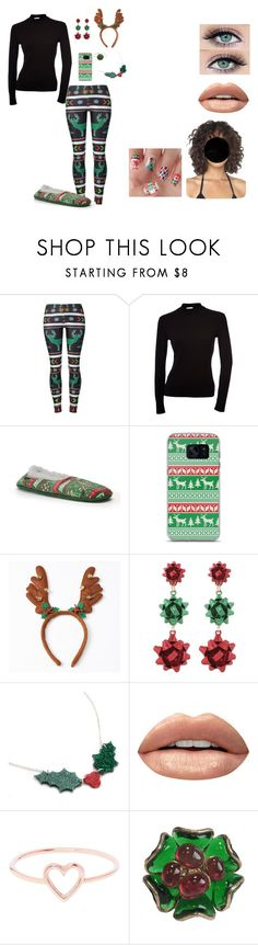 """""""Christmas Morning"""" by theregoesthesunn ❤ liked on Polyvore featuring Samsung, Huda Beauty, Love Is and Marguerite de Valois"""