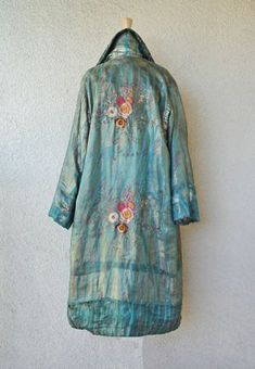 Circa 1925 By Madame Babani,silk Coat