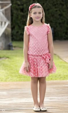 Anabel moda Dresses Kids Girl, Day Dresses, Cute Dresses, Summer Dresses, Frock Patterns, Dress Sewing Patterns, Toddler Outfits, Girl Outfits, Baby Girl Boutique