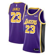 a0d9300cd Buena Calidad Camisetas NBA Nike Los Angeles Lakers NO.23 Lebron James  Púrpura 2018-