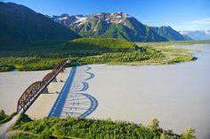 Million Dollar Bridge Aerial Cordova Alaska